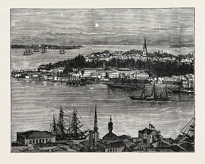 View Of Seraglio Point, Constantinople, Istanbul Art Print by Litz Collection
