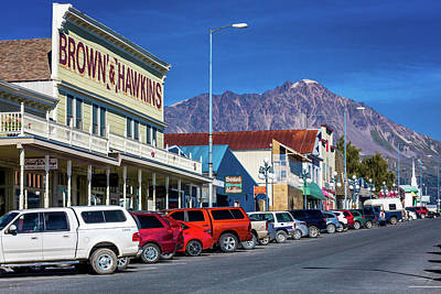 Store Fronts Photograph - View Of Seward, Alaska Storefronts by Panoramic Images