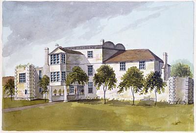 View Of Sir Noel De Carons House, 1809 Wc On Paper Art Print