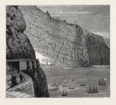 View Of St. Helena Jamestown Art Print by Litz Collection