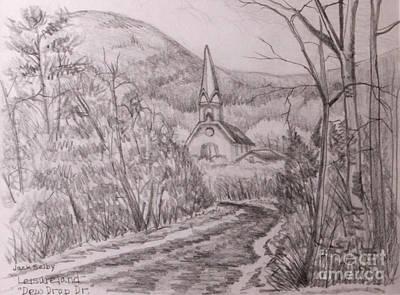 View Of St. Joseph's Church On Dew Drop Drive Art Print