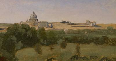 Dome Painting - View Of St Peters by Jean Baptiste Camille Corot
