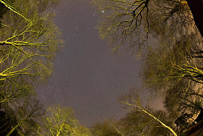 Fish-eye Look Photograph - View Of Stars In The Sky by John Short