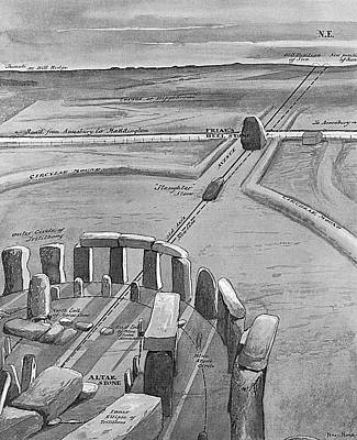 View Of Stonehenge At Sunrise On 21 Art Print by Mary Evans Picture Library