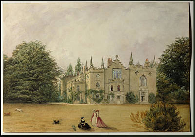 Strawberry Drawing - View Of Strawberry Hill Middlesex by Gustave Ellinthorpe Sintzenich