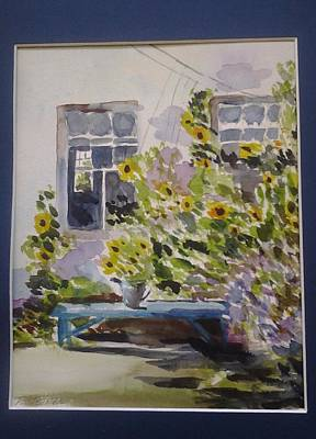 Painting - View  Of Sunflowers by Tom Steiner