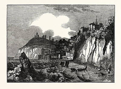 Tenby Drawing - View Of Tenby, Pembrokeshire by Litz Collection