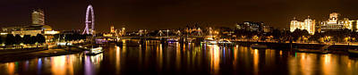 View Of Thames River From Waterloo Art Print by Panoramic Images
