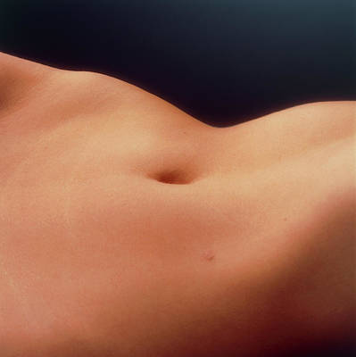 Torso Wall Art - Photograph - View Of The Abdomen Of A Woman Lying Down by Phil Jude/science Photo Library