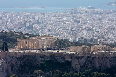 Photograph - View Of The Acropolis From Lykavittos Hill by Anthony Doudt