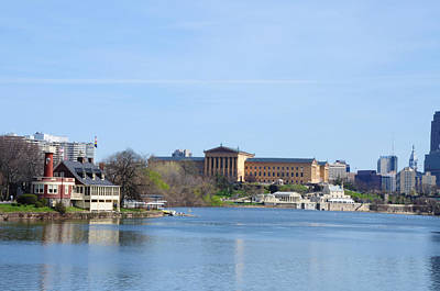 View Of The Art Museum And Waterworks In Philadelphia Art Print by Bill Cannon