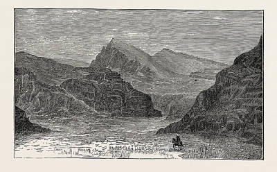 Balochistan Drawing - View Of The Bolan Pass by English School