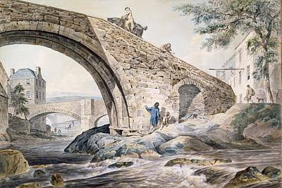 Horse Drawing - View Of The Bridges At Haywick by Charles, I Catton
