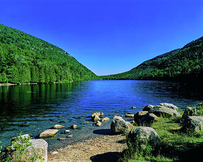 Maine Nature Photograph - View Of The Bubble Pond, Acadia by Panoramic Images