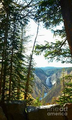 View Of The Canyon Art Print by Kathleen Struckle