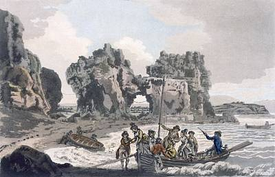 Coastal Landscape Drawing - View Of The Castle Rock by J. & Ibbetson, J.C. Hassell