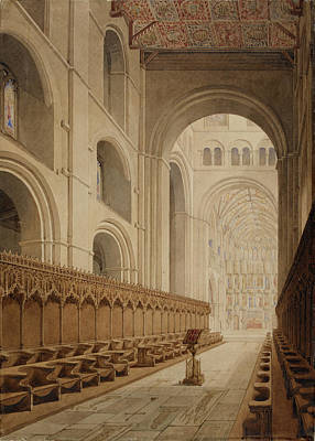 View Of The Choir Of St Alban's Abbey Art Print by British Library