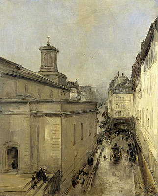 Notre Dame Drawing - View Of The Church Of Notre Dame De Lorette And The Rue by Litz Collection
