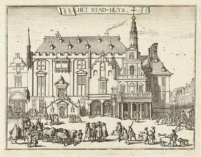 View Of The City Hall In Haarlem, The Netherlands Art Print by Romeyn De Hooghe