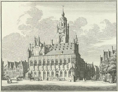 View Of The City Hall Of Middelburg The Netherlands Art Print by Quint Lox
