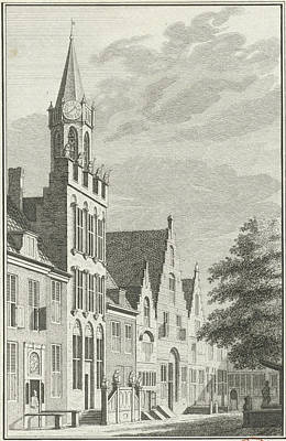 City Hall Drawing - View Of The City Hall Of Tholen The Netherlands by Quint Lox