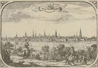 Hamburg Drawing - View Of The City Of Hamburg, Germany, Adriaen Oudendijck by Artokoloro
