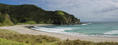 View Of The Coastal Beach, Tapotupotu Art Print by Panoramic Images