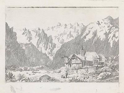Ant Drawing - View Of The Col Du Gant, David Van Der Kellen IIi by David Van Der Kellen (iii) And Marinus Van Raden