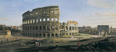 View Of The Colosseum With The Arch Art Print by Everett