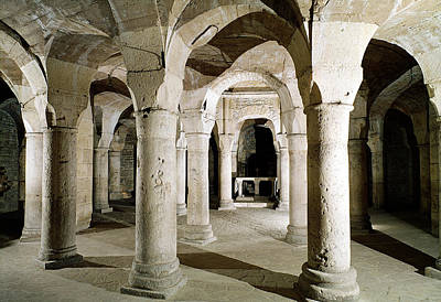 View Of The Crypt Photo Art Print by French School