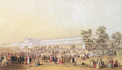 London Drawing - View Of The Crystal Palace by George Baxter