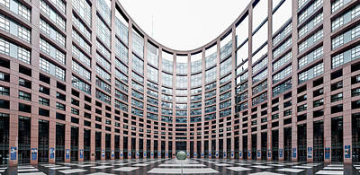 Alsace Photograph - View Of The European Parliament by Panoramic Images