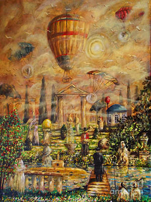 Parachute Painting - View Of The Golden City by Dariusz Orszulik