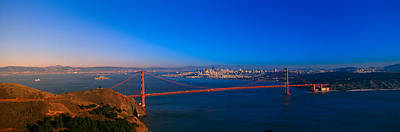 San Francisco Landmark Photograph - View Of The Golden Gate Bridge And City by Panoramic Images