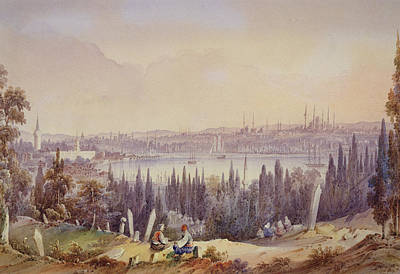 Bosphorous Drawing - View Of The Golden Horn, C.1840 by English School