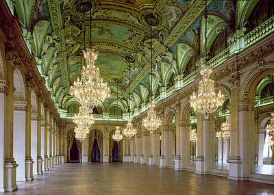 View Of The Grande Salle Des Fetes Art Print by French School