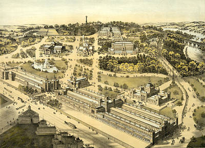 View Of The Ground And Buildings, International Exhibition Art Print by Litz Collection