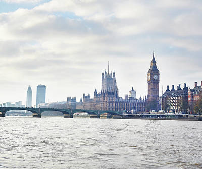 Break Of Day Photograph - View Of The Houses Of Parliament And by Frank And Helena