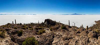 View Of The Isla Del Pescado, Salar De Art Print