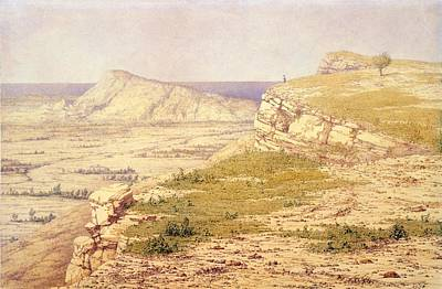 Rhodes Drawing - View Of The Island Of Rhodes by Richard Dadd