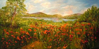 Painting - View Of The Lake by Barbara Pirkle