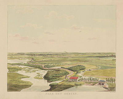 View Of The Landscape East Of Nijmegen, Derk Anthony Van De Art Print