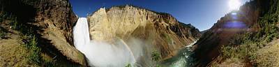 View Of The Lower Yellowstone Falls Art Print by Panoramic Images