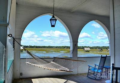 Photograph - View Of The Marsh From The Pelican Inn by Kathy Baccari