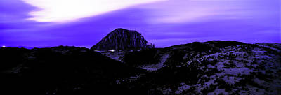 Morro Bay Photograph - View Of The Morro Rock At Dusk, Morro by Panoramic Images