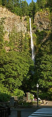 Multnomah Falls Photograph - View Of The Multnomah Falls, Columbia by Panoramic Images