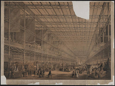 Hyde Park Drawing - View Of The Nave Of The Great Exhibition Building by Litz Collection
