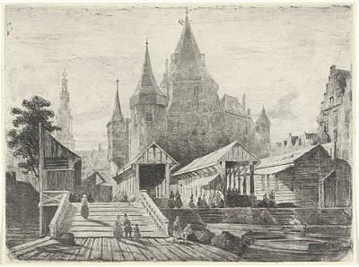 View Of The Nieuwmarkt In Amsterdam, The Netherlands Art Print