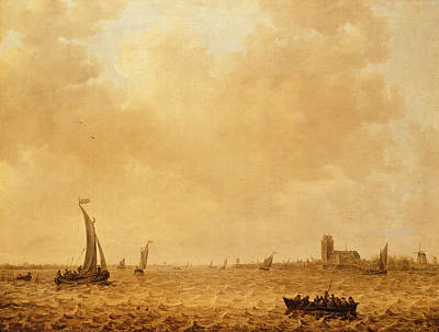 Maas Painting - View Of The Old Maas, Dordrecht by Jan Josephsz van Goyen