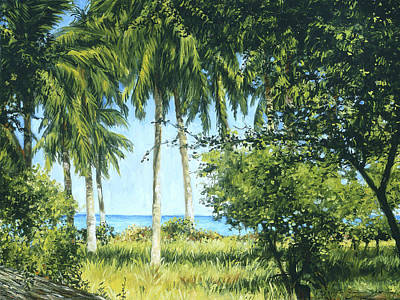 Haleiwa Painting - View Of The Pacific by Stacy Vosberg